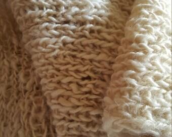 Shawl knitted on loom