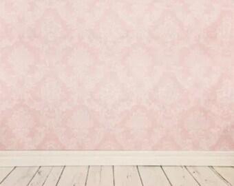 PHOTOGRAPHY Background Backdrop Pink Damask Pattern Photo Props 5X7 FT (150CM X 200CM)