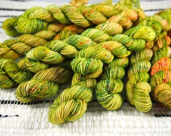Electric Meadow | 20g/87 yds | MiniMini Mini Skein | Hand Dyed Sock Yarn | 100% SW Merino