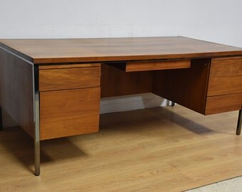 Lehigh Leopold Walnut Executive Desk