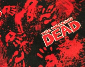 Walking dead throw blanket:  Bloody hands
