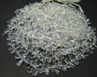 Brillient 100% Natural Cristal fancy  beads 6X12MM Approx 14''Inch