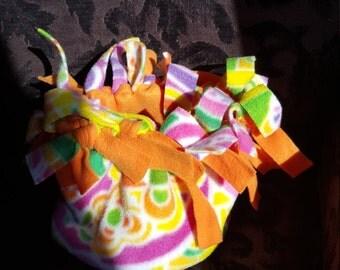 Adult HatBand bright paisley with orange