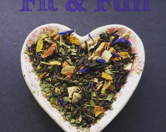 Fit & Fun - Pu-Erh-Mate-Tea-Skinny Tea- Weight-Loss-diet-fat-loss-energy-Luxury-Loose-Leaf-natural-antioxidant-gifts-quality-for-her-gypsy