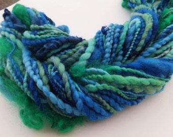 Handspun wool art yarn - Ocean