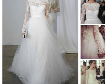Marchesa Bridal 2015 custom made from Frech Lace