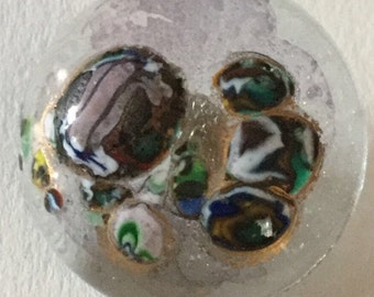 Teresa Rarig Unsigned Vintage Glass Paperweight Button studio Button