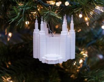 Washington D.C. LDS Temple Christmas Ornament