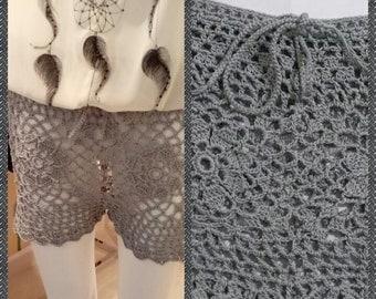 handmade crochet shorts