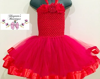 Elegant Red Tutu dress