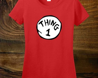 THING ONE- Dr Seuss Thing One T-shirt Tee T shirt available in all sizes SM-00050