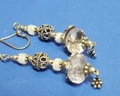Princess Daisy Sterling Silver & Amethyst Earrings