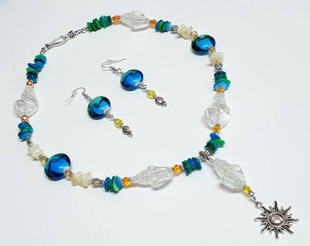 A Day at the Beach Necklace & Earrings