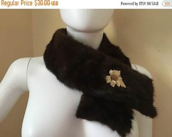Vintage Mink Brown Collar