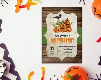 Halloween word invite_9,INSTANT DOWNLOAD - Edit Yourself in Word. Template Editable Text Microsoft Word.DIY You Print.