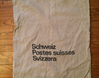 Vintage Swiss Post Canvas Mailbag circa 1983