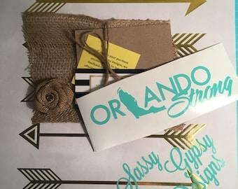 Orlando Strong Decal, Orlando Decal, #orlandostrong