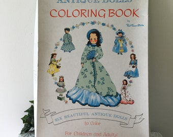 Vintage Kim's Giant  Dolls Coloring Book