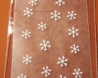 20 snowflakes, nail art, sticky nail, Christmas, xmas