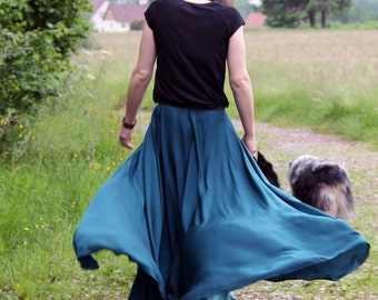 Cavalière turquoise skirt and overskirt