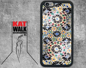 Apple iPhone 6/6S Rubber Case. Tile Mosaic iPhone 5/5s Case. Art iPhone cover. iPhone 6/6S. Gaudi inspired Tile Mosaic Phone case. iPhone 6.