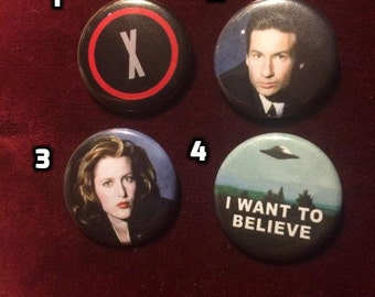 The X Files Buttons