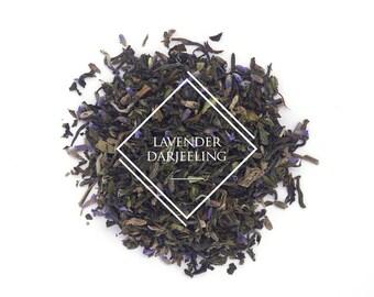 Lavender Darjeeling Tea, Loose Leaf Tea, Black Tea