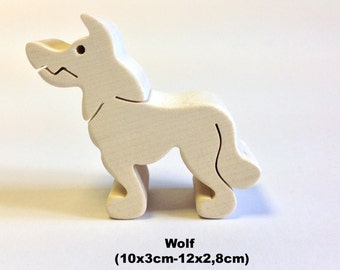 Wooden figure Wolf / Handmade / Animals / Wooden toys / Forest / Waldorf / Montessori