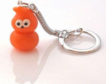 Zingy keyrings EDF man flame handmade fimo clay keychain key fob cute