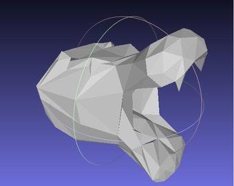 hippopotamus trophy / Trophy head / hippo sculpture / hippo papercraft / Animal paper