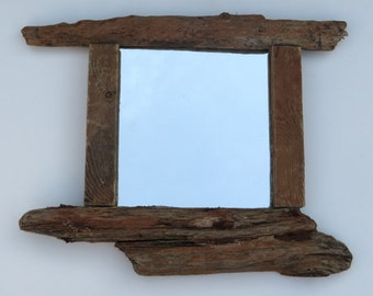 Wall Mirror - Rustic Driftwood Mirror - Nautical Mirror - Reclaimed Wood Mirror - Recycled - Upcycled - Wooden Mirror - Home Decor - Rustic