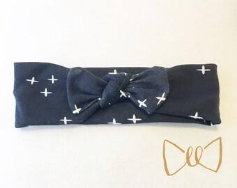 Dark Blue Organic Cotton Knit Headband