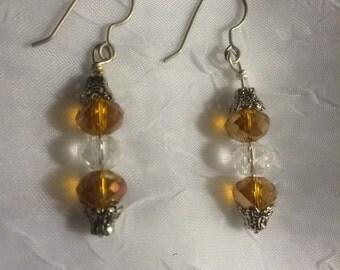 Yellow birthstone hypo-allergenic earrings