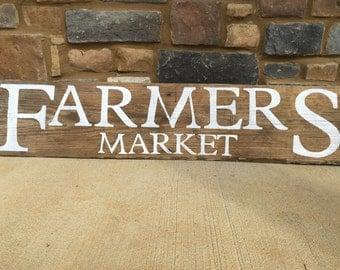 Farmer Market Reclaimed Wood sign