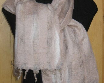 Top Merino Wool Scarf; Hand Felted Scarf