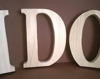 Wooden Wedding letters , Free standing letters, Wedding letters , Wooden initials, table decor large wooden letters 20 cm