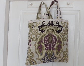 Tote Shopping Bag in Tapestry Print
