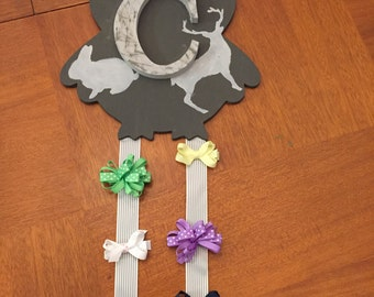 Forrest Creature Hair Bow Holder Wall Art
