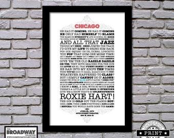 Chicago - Framed - Quotes - Lyrics - Typography Print
