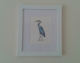 Original Heron Painting