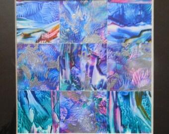 Wall Art, Square Abstract, Blue Modern Art, Square Wall Art ,Abstract Painting, Original Artwork