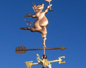 Copper Party Pig Weathervane 102