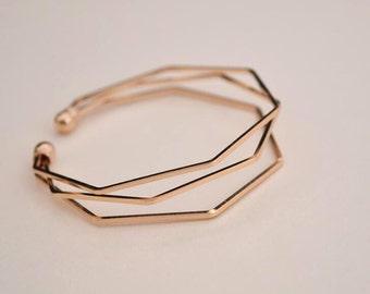 geometry cuff bracelet charm bracelet gold plated finding