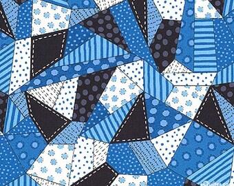 "18x21"" Blue Patchwork Fabric Quilting Treasures"