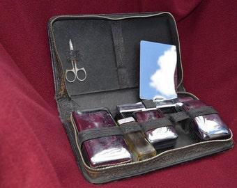 Vintage mens grooming kit.