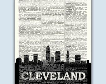 Cleveland Skyline, Cleveland Poster, Cleveland Decor, Cleveland Print, Cleveland Art, Cleveland Gift, Cleveland Ohio, Cleveland Wall Art