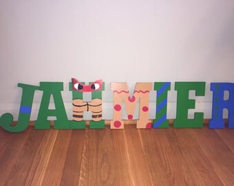 Ninja Turtle Hand painted letters