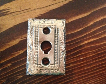 Antique Brass Keyhole Cover