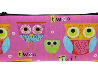 nice girl pencils Kit OWL pink fabric