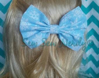 Blue Snowflake bow